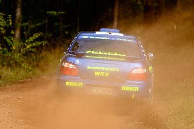 1;050605ARC;4-June-2005;ARC;Australia;Australian-Rally-Championship;Coates-Rally-Queensland;Cody-Crocker;Dale-Moscatt;Imbil;QLD;Queensland;Subaru-Impreza-WRX;Sunshine-Coast;auto;motorsport;racing