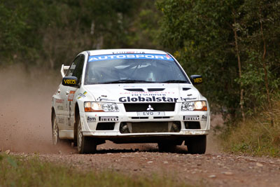 6;050605ARC;4-June-2005;ARC;Australia;Australian-Rally-Championship;Coates-Rally-Queensland;Evo-7;Imbil;Jack-Monkhouse;Mitsubishi-Lancer;Mitsubishi-Lancer-Evolution-VII;QLD;Queensland;Rebecca-Cochrane;Sunshine-Coast;auto;motorsport;racing