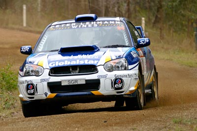 24;050605ARC;4-June-2005;ARC;Australia;Australian-Rally-Championship;Bernie-Webb;Coates-Rally-Queensland;Imbil;QLD;Queensland;Steve-Glenney;Subaru-Impreza-WRX;Sunshine-Coast;auto;motorsport;racing
