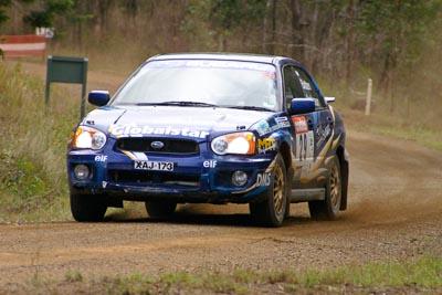 29;050605ARC;4-June-2005;ARC;Australia;Australian-Rally-Championship;Coates-Rally-Queensland;Imbil;John-Anderson;Paul-Batten;QLD;Queensland;Subaru-Impreza-RS;Sunshine-Coast;auto;motorsport;racing