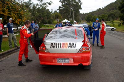 5;050605ARC;4-June-2005;ARC;Australia;Australian-Rally-Championship;Coates-Rally-Queensland;Evo-8;Glen-Weston;Imbil;Mitsubishi-Lancer;Mitsubishi-Lancer-Evolution-VIII;QLD;Queensland;RalliArt;Scott-Pedder;Sunshine-Coast;auto;motorsport;racing