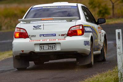 4;050605ARC;4-June-2005;ARC;Australia;Australian-Rally-Championship;Ben-Searcy;Benni-Tirant;Coates-Rally-Queensland;Imbil;QLD;Queensland;Subaru-Impreza-WRX-STI;Sunshine-Coast;auto;motorsport;racing