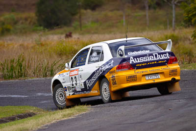 23;050605ARC;4-June-2005;ARC;Australia;Australian-Rally-Championship;Coates-Rally-Queensland;David-Callaghan;David-Hills;Evo-7;Imbil;Mitsubishi-Lancer;Mitsubishi-Lancer-Evolution-VII;QLD;Queensland;Sunshine-Coast;auto;motorsport;racing