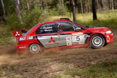 5;050605ARC;4-June-2005;ARC;Australia;Australian-Rally-Championship;Coates-Rally-Queensland;Evo-8;Glen-Weston;Imbil;Mitsubishi-Lancer;Mitsubishi-Lancer-Evolution-VIII;QLD;Queensland;RalliArt;Scott-Pedder;Sunshine-Coast;auto;motorsport;racing;wide-angle