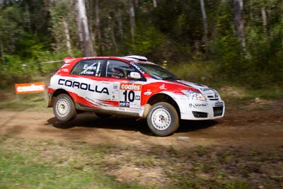 10;050605ARC;4-June-2005;ARC;Australia;Australian-Rally-Championship;Coates-Rally-Queensland;Imbil;QLD;Queensland;Simon-Evans;Sue-Evans;Sunshine-Coast;Team-TRD;Toyota-Corolla-Sportivo;Toyota-Racing-Development;auto;motorsport;racing;wide-angle