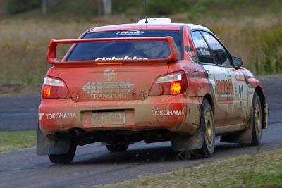 21;050605ARC;4-June-2005;ARC;Australia;Australian-Rally-Championship;Coates-Rally-Queensland;Darren-Windus;Imbil;Jonathan-Mortimor;QLD;Queensland;Subaru-Impreza-WRX;Sunshine-Coast;auto;motorsport;racing