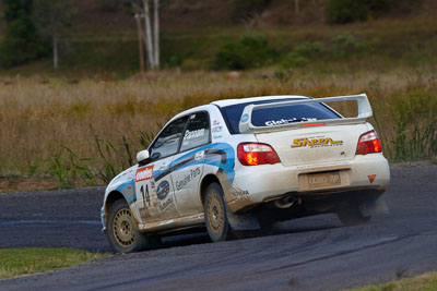 14;050605ARC;4-June-2005;ARC;Andrew-Pannam;Australia;Australian-Rally-Championship;Coates-Rally-Queensland;Darryl-Judd;Imbil;QLD;Queensland;Subaru-Impreza-WRX-STI;Sunshine-Coast;auto;motorsport;racing