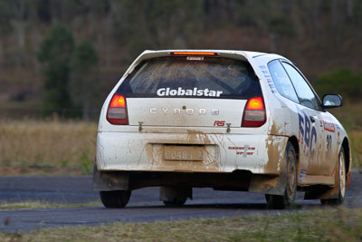 30;050605ARC;4-June-2005;ARC;Australia;Australian-Rally-Championship;Coates-Rally-Queensland;Imbil;Ken-Garrioch;Leigh-Garrioch;Mitsubishi-Mirage-Cyborg;QLD;Queensland;Sunshine-Coast;auto;motorsport;racing
