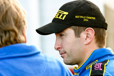 4-June-2005;ARC;Australia;Australian-Rally-Championship;Coates-Rally-Queensland;Cody-Crocker;Imbil;QLD;Queensland;Sunshine-Coast;Topshot;auto;cap;hat;motorsport;portrait;racing