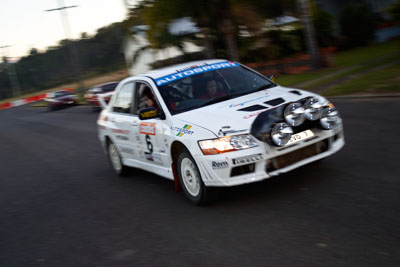 6;050605ARC;4-June-2005;ARC;Australia;Australian-Rally-Championship;Coates-Rally-Queensland;Evo-7;Imbil;Jack-Monkhouse;Mitsubishi-Lancer;Mitsubishi-Lancer-Evolution-VII;QLD;Queensland;Rebecca-Cochrane;Sunshine-Coast;auto;motion-blur;motorsport;movement;racing;wide-angle