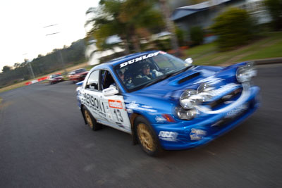 13;050605ARC;4-June-2005;ARC;Australia;Australian-Rally-Championship;Brad-Goldsbrough;Coates-Rally-Queensland;Imbil;Paul-Humm;QLD;Queensland;Subaru-Impreza-WRX-STI;Sunshine-Coast;auto;motion-blur;motorsport;movement;racing;wide-angle