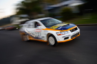23;050605ARC;4-June-2005;ARC;Australia;Australian-Rally-Championship;Coates-Rally-Queensland;David-Callaghan;David-Hills;Evo-7;Imbil;Mitsubishi-Lancer;Mitsubishi-Lancer-Evolution-VII;QLD;Queensland;Sunshine-Coast;auto;motion-blur;motorsport;movement;racing;wide-angle
