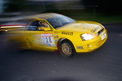 28;050605ARC;4-June-2005;ARC;Australia;Australian-Rally-Championship;Barrie-Burr;Coates-Rally-Queensland;Imbil;John-Goasdoue;QLD;Queensland;Subaru-Impreza-RS;Sunshine-Coast;auto;motion-blur;motorsport;movement;racing;wide-angle