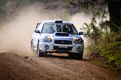 24;5-June-2005;ARC;Australia;Australian-Rally-Championship;Bernie-Webb;Coates-Rally-Queensland;Imbil;QLD;Queensland;Steve-Glenney;Subaru-Impreza-WRX;Sunshine-Coast;Topshot;auto;motorsport;racing