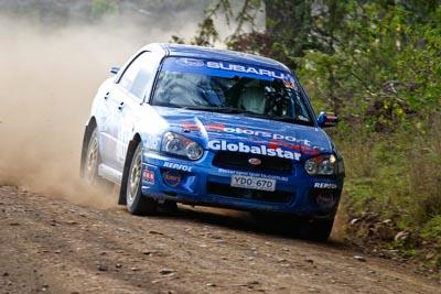 17;050605ARC;5-June-2005;ARC;Australia;Australian-Rally-Championship;Coates-Rally-Queensland;Imbil;QLD;Queensland;Subaru-Impreza-RS;Sunshine-Coast;Toni-Feaver;Will-Orders;auto;motorsport;racing