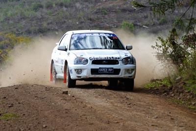 26;050605ARC;5-June-2005;ARC;Australia;Australian-Rally-Championship;Coates-Rally-Queensland;Eli-Evans;Imbil;Matt-McAdam;QLD;Queensland;Subaru-Impreza-RS;Sunshine-Coast;auto;motorsport;racing