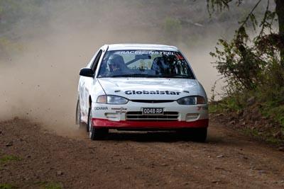 30;050605ARC;5-June-2005;ARC;Australia;Australian-Rally-Championship;Coates-Rally-Queensland;Imbil;Ken-Garrioch;Leigh-Garrioch;Mitsubishi-Mirage-Cyborg;QLD;Queensland;Sunshine-Coast;auto;motorsport;racing