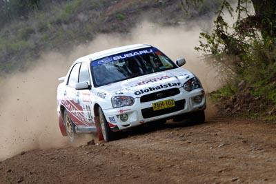 32;050605ARC;5-June-2005;ARC;Australia;Australian-Rally-Championship;Coates-Rally-Queensland;Imbil;John-Berne;QLD;Queensland;Scott-Beckwith;Subaru-Impreza-RS;Sunshine-Coast;auto;motorsport;racing
