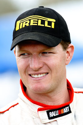 5-June-2005;ARC;Australia;Australian-Rally-Championship;Coates-Rally-Queensland;Imbil;Pirelli;QLD;Queensland;RalliArt;Scott-Pedder;Sunshine-Coast;Topshot;auto;cap;hat;logo;motorsport;portrait;racing;smile