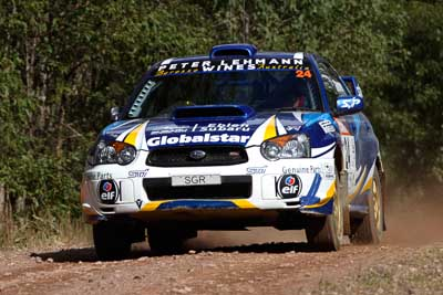 24;050605ARC;5-June-2005;ARC;Australia;Australian-Rally-Championship;Bernie-Webb;Coates-Rally-Queensland;Imbil;QLD;Queensland;Steve-Glenney;Subaru-Impreza-WRX;Sunshine-Coast;auto;motorsport;racing