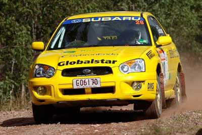 28;050605ARC;5-June-2005;ARC;Australia;Australian-Rally-Championship;Barrie-Burr;Coates-Rally-Queensland;Imbil;John-Goasdoue;QLD;Queensland;Subaru-Impreza-RS;Sunshine-Coast;auto;motorsport;racing
