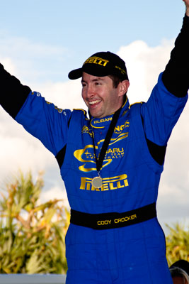 050605ARC;5-June-2005;ARC;Australia;Australian-Rally-Championship;Caloundra;Coates-Rally-Queensland;Cody-Crocker;QLD;Queensland;Sunshine-Coast;afternoon;auto;motorsport;official-finish;podium;racing