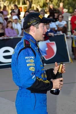 050605ARC;5-June-2005;ARC;Australia;Australian-Rally-Championship;Caloundra;Coates-Rally-Queensland;Cody-Crocker;QLD;Queensland;Sunshine-Coast;afternoon;auto;motorsport;official-finish;podium;portrait;racing