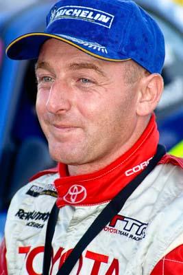 050605ARC;5-June-2005;ARC;Australia;Australian-Rally-Championship;Caloundra;Coates-Rally-Queensland;QLD;Queensland;Simon-Evans;Sunshine-Coast;afternoon;auto;motorsport;official-finish;podium;portrait;racing