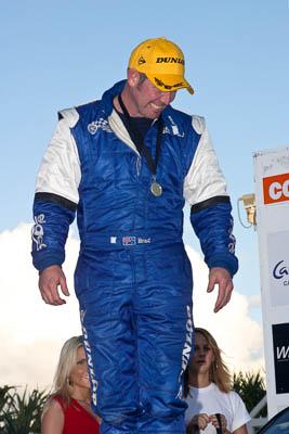 050605ARC;5-June-2005;ARC;Australia;Australian-Rally-Championship;Brad-Goldsbrough;Caloundra;Coates-Rally-Queensland;QLD;Queensland;Sunshine-Coast;afternoon;auto;motorsport;official-finish;podium;racing