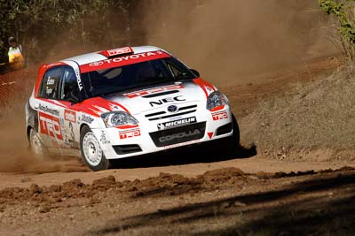 3;17-June-2006;ARC;Australia;Australian-Rally-Championship;Coral-Taylor;Imbil;Neal-Bates;Off‒Road;QLD;Queensland;Sunshine-Coast;Team-TRD;Toyota-Corolla-Sportivo;auto;motorsport;racing;telephoto