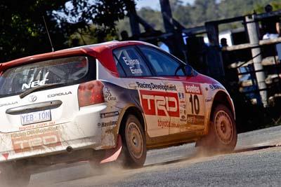 10;17-June-2006;ARC;Australia;Australian-Rally-Championship;Imbil;QLD;Queensland;Simon-Evans;Sue-Evans;Sunshine-Coast;Team-TRD;Toyota-Corolla-Sportivo;auto;motorsport;racing;tarmac;telephoto