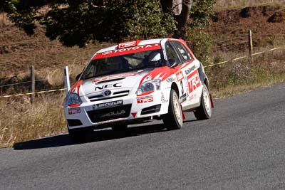 3;17-June-2006;ARC;Australia;Australian-Rally-Championship;Coral-Taylor;Imbil;Neal-Bates;QLD;Queensland;Sunshine-Coast;Team-TRD;Toyota-Corolla-Sportivo;auto;motorsport;racing;tarmac;telephoto