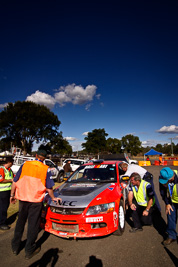 9;17-June-2006;ARC;Australia;Australian-Rally-Championship;Evo-9;Glen-Weston;Imbil;Mitsubishi-Lancer;Mitsubishi-Lancer-Evolution-IX;Mitsubishi-Team-RalliArt;QLD;Queensland;Scott-Pedder;Sunshine-Coast;auto;clouds;motorsport;racing;sky;tarmac;wide-angle