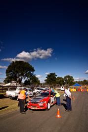 9;17-June-2006;ARC;Australia;Australian-Rally-Championship;Evo-9;Glen-Weston;Imbil;Mitsubishi-Lancer;Mitsubishi-Lancer-Evolution-IX;Mitsubishi-Team-RalliArt;QLD;Queensland;Scott-Pedder;Sunshine-Coast;Topshot;atmosphere;auto;blue;clouds;motorsport;racing;sky;tarmac;wide-angle