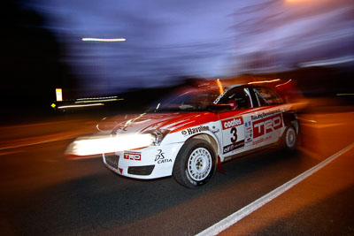 3;17-June-2006;ARC;Australia;Australian-Rally-Championship;Coral-Taylor;Imbil;Neal-Bates;QLD;Queensland;Sunshine-Coast;Team-TRD;Topshot;Toyota-Corolla-Sportivo;auto;motorsport;movement;night;racing;road;speed;tarmac;twilight;wide-angle