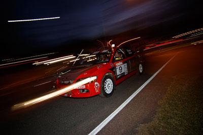 9;17-June-2006;ARC;Australia;Australian-Rally-Championship;Evo-9;Glen-Weston;Imbil;Mitsubishi-Lancer;Mitsubishi-Lancer-Evolution-IX;Mitsubishi-Team-RalliArt;QLD;Queensland;Scott-Pedder;Sunshine-Coast;auto;motorsport;movement;night;racing;speed;twilight;wide-angle