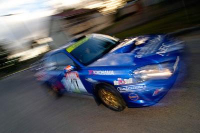 17;18-June-2006;ARC;Australia;Australian-Rally-Championship;Imbil;QLD;Queensland;Subaru-Impreza-WRX;Sunshine-Coast;Toni-Feaver;Will-Orders;auto;motorsport;movement;racing;speed;wide-angle