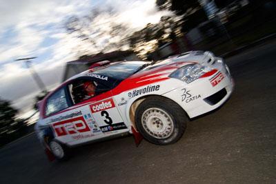 3;18-June-2006;ARC;Australia;Australian-Rally-Championship;Coral-Taylor;Imbil;Neal-Bates;QLD;Queensland;Sunshine-Coast;Team-TRD;Toyota-Corolla-Sportivo;auto;motorsport;movement;racing;speed;wide-angle