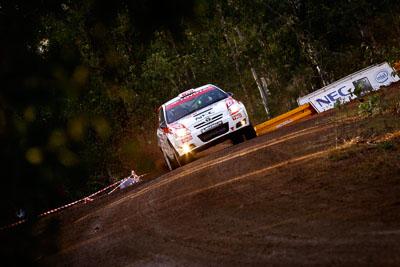 10;18-June-2006;ARC;Australia;Australian-Rally-Championship;Imbil;Off‒Road;QLD;Queensland;Simon-Evans;Sue-Evans;Sunshine-Coast;Team-TRD;Toyota-Corolla-Sportivo;auto;motorsport;racing;telephoto