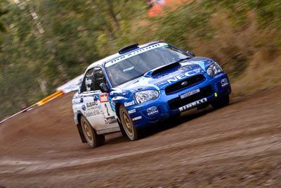 2;18-June-2006;ARC;Australia;Australian-Rally-Championship;Bill-Hayes;Dean-Herridge;Imbil;Maximum-Motorsport;Off‒Road;QLD;Queensland;Subaru-Impreza-WRX;Sunshine-Coast;auto;motorsport;movement;racing;speed;telephoto