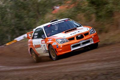 12;18-June-2006;ARC;Australia;Australian-Rally-Championship;Darren-Windus;Imbil;Jonathon-Mortimer;Off‒Road;QLD;Queensland;Subaru-Impreza-WRX;Sunshine-Coast;auto;motorsport;movement;racing;speed;telephoto