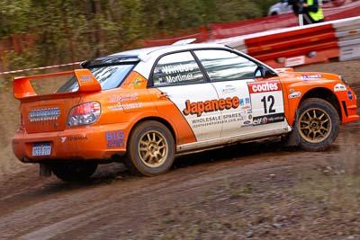 12;18-June-2006;ARC;Australia;Australian-Rally-Championship;Darren-Windus;Imbil;Jonathon-Mortimer;Off‒Road;QLD;Queensland;Subaru-Impreza-WRX;Sunshine-Coast;auto;motorsport;racing;telephoto