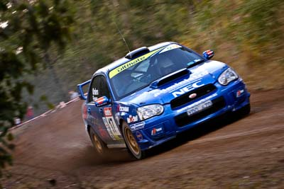 17;18-June-2006;ARC;Australia;Australian-Rally-Championship;Imbil;Off‒Road;QLD;Queensland;Subaru-Impreza-WRX;Sunshine-Coast;Toni-Feaver;Will-Orders;auto;motorsport;movement;racing;speed;telephoto
