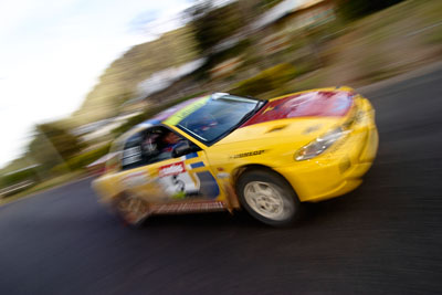 5;18-June-2006;ARC;Australia;Australian-Rally-Championship;Dale-Moscatt;Evo-3;Imbil;Kelvin-Croker;Mitsubishi-Lancer;Mitsubishi-Lancer-Evolution-III;QLD;Queensland;Sunshine-Coast;auto;motorsport;movement;racing;service-park;speed;wide-angle