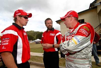 18-June-2006;ARC;Australia;Australian-Rally-Championship;Imbil;Neal-Bates;QLD;Queensland;Sunshine-Coast;Team-TRD;atmosphere;auto;crew;mechanics;motorsport;portrait;racing;service-park;wide-angle
