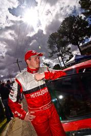 18-June-2006;ARC;Australia;Australian-Rally-Championship;Imbil;QLD;Queensland;Scott-Pedder;Sunshine-Coast;Topshot;atmosphere;auto;clouds;motorsport;portrait;racing;service-park;sky;sun;wide-angle