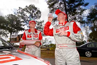 18-June-2006;ARC;Australia;Australian-Rally-Championship;Coral-Taylor;Imbil;Neal-Bates;QLD;Queensland;Sunshine-Coast;atmosphere;auto;motorsport;portrait;racing;service-park;wide-angle