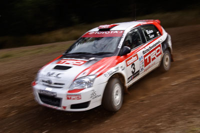 3;18-June-2006;ARC;Australia;Australian-Rally-Championship;Coral-Taylor;Imbil;Neal-Bates;QLD;Queensland;Sunshine-Coast;Team-TRD;Toyota-Corolla-Sportivo;auto;motorsport;racing;wide-angle