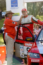 9;18-June-2006;ARC;Australia;Australian-Rally-Championship;Evo-9;Glen-Weston;Mitsubishi-Lancer;Mitsubishi-Lancer-Evolution-IX;Mitsubishi-Team-RalliArt;Mooloolaba;QLD;Queensland;Scott-Pedder;Sunshine-Coast;auto;ceremonial-finish;motorsport;racing;telephoto