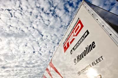 19-June-2008;ARC;Australia;Australian-Rally-Championship;Havoline;Michelin;QLD;Queensland;Sunshine-Coast;TRD;Topshot;auto;clouds;logo;motorsport;pre‒event;racing;sky;transporter;wide-angle